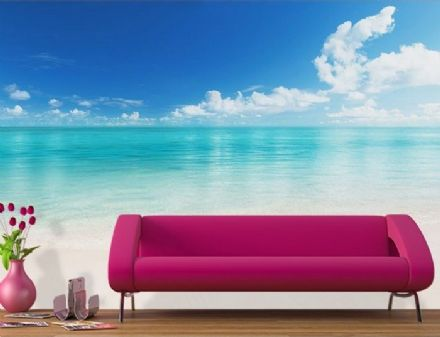 The Beach - blue ocean giant wall mural